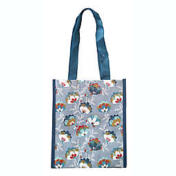 ACT Floral Reusable Shopping Tote in Grey