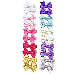 Tiny Treasures 20-Piece Satin Bow Salon Clip Set