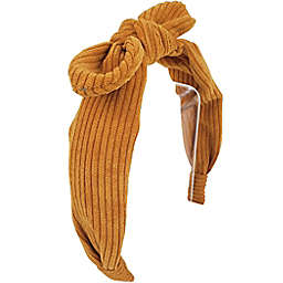 Tiny Treasures Bow Tie Headband in Mustard