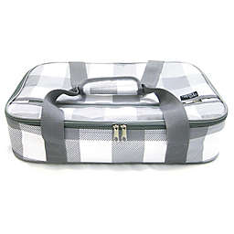 Our Table™ Casserole Tote in Grey Plaid