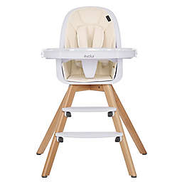Evolur Zoodle 3-in-1 High Chair and  Booster Feeding Chair  in Ivory
