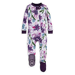 Burt's Bees Baby® Size 12M Organic Cotton Watercolor Daylily Footed Pajama in Purple