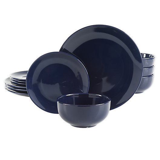 Alternate image 1 for Simply Essential™ Coupe 12-Piece Dinnerware Set in Navy
