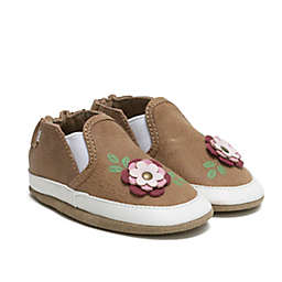 Robeez® Size 0-6M Leah Patch Shoe in Rust