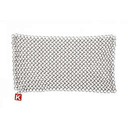 Knapp Made CM Scrubber® 9-Inch x 6-Inch Small Ring Chainmail Scrubber in Metallic