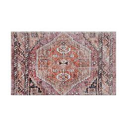 Wild Sage™ Medallion Print 20-Inch x 30-Inch Bath Rug in Warm Pink