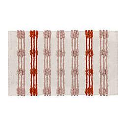 Wild Sage™ Woven Stripe 20-Inch x 33-Inch Bath Rug in Warm Pink