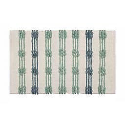 Wild Sage™ Woven Stripe 20-Inch x 33-Inch Bath Rug in Cool