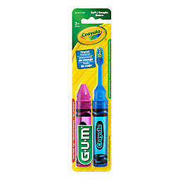 GUM Crayola 2-Pack Travel Toothbrushes