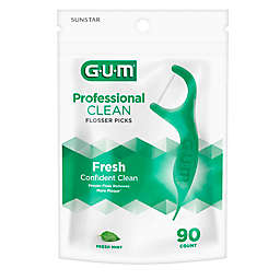 Sunstar GUM® Professional Clean 90-Count Flossers with Extra Strong Floss in Mint