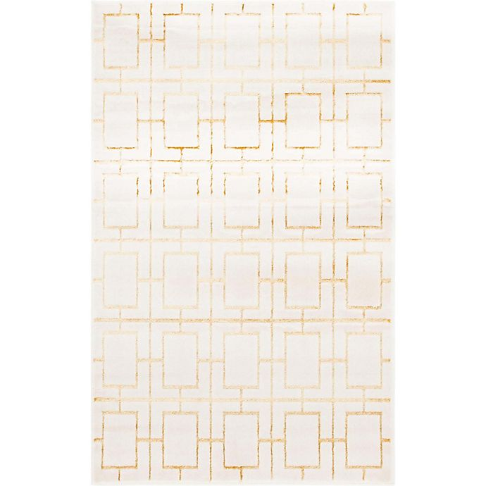 Alternate image 1 for Marilyn Monroe® Deco Glam 4' x 6' Area Rug in White/Gold
