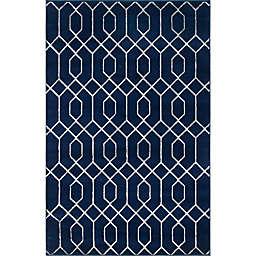 Marilyn Monroe® Trellis Glam Rug in Navy Blue