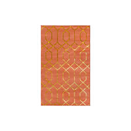 Marilyn Monroe® Trellis Glam 2' x 3' Area Rug in Coral/Gold