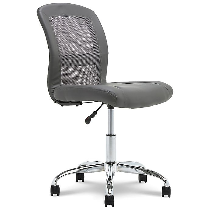 Alternate image 1 for Serta® Faux Leather Swivel Essentials Office Chair in Gray