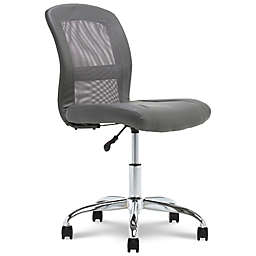 Serta® Faux Leather Swivel Essentials Office Chair in Gray