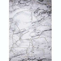 Concord Global Trading Dallas 6'7 x 9'3 Abstract Area Rug in Grey