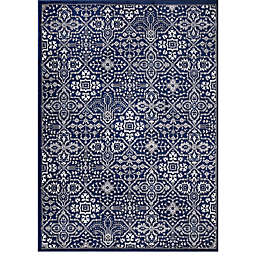 Concord Global Trading Jefferson Athens 6'7 x 9'3 Area Rug in Navy