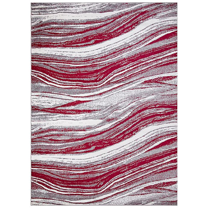Alternate image 1 for Concord Global Trading Jefferson Marble Stripes Rug in Red