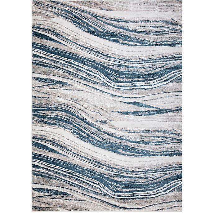 Alternate image 1 for Concord Global Trading Jefferson Marble Stripes Rug in Blue