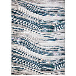 Concord Global Trading Jefferson Marble Stripes Rug in Blue