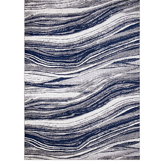 Alternate image 1 for Concord Global Trading Jefferson Marble Stripes Rug in Navy