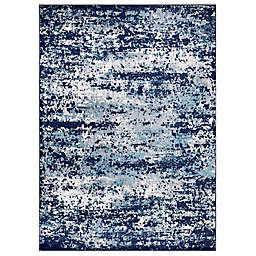 Concord Global Trading Jefferson Abstract 5'3 x 7'3 Area Rug in Navy