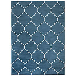 Concord Global Trading Jefferson Morocco Trellis 5'3 x 7'3 Area Rug in Blue