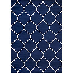 Concord Global Trading Jefferson Morocco Trellis 7'10 x 9'10 Area Rug in Navy