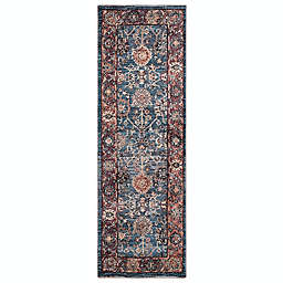 Conccord Global Alexander Traditional 2'3 x 7'3 Runner in Blue