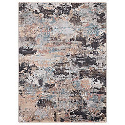 Concord Global Trading Celeste Abstract 3'3 x 4'7 Area Rug in Brown