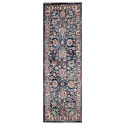 Concord Global Trading Cassandra Traditional 2'3 x 7'3 Runner in Navy