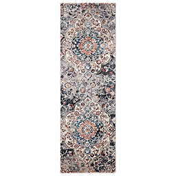 Concord Global Trading Capella 2'3 x 7'3 Medallion Runner Rug