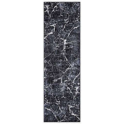 Concord Global Trading Napoli Abstract 2'3 x 7'3 Runner in Anthracite
