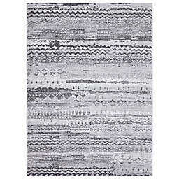 Concord Global Trading Pienza Distressed 3'3 x 4'7 Area Rug in Grey