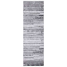 Concord Global Trading Pienza Distressed 2'3 x 7'3 Runner in Grey