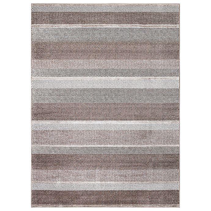 Alternate image 1 for Concord Global Trading Toscano Stripe Rug in Brown