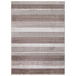 Concord Global Trading Toscano Stripe Rug in Brown