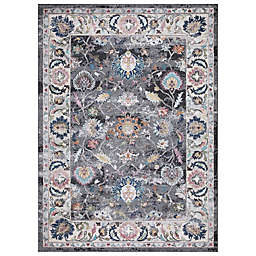 Concord Global Trading Istanbul Border 7'10 x 10'6 Area Rug in Grey