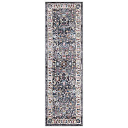 Concord Global Trading Istanbul Border 2'3 x 7'3 Runner in Grey