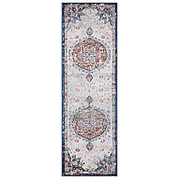 Concord Global Trading Florence Medallion 2'3 x 7'3 Runner in Ivory