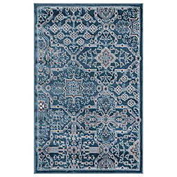 Concord Global Trading Jefferson Athens 2'7 x 4'1 Area Rug in Blue