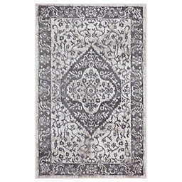 Concord Global Trading Pearl Heriz Medallion 2'7 x 4'1 Area Rug in Ivory