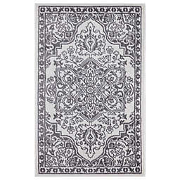 Concord Global Trading Jefferson Vintage Medallion 2'7 x 4'1 Area Rug in Ivory