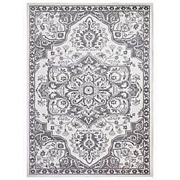Concord Global Trading Jefferson Vintage Medallion 7'10 x 9'10 Area Rug in Ivory