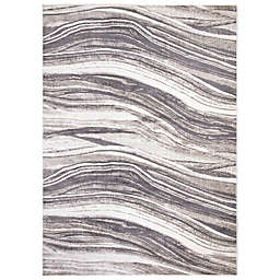 Concord Global Trading Jefferson Marble Stripes Rug in Grey