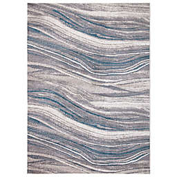 Concord Global Trading Jefferson Marble Stripes Multicolor Rug