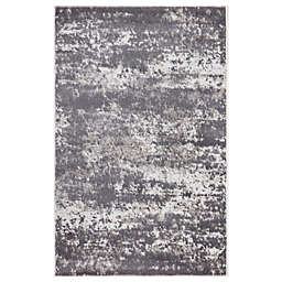 Concord Global Trading Jefferson Abstract 2'7 x 4'1 Area Rug in Grey