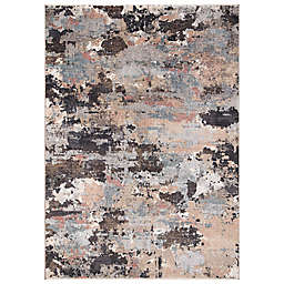 Concord Global Trading Celeste Abstract 5'3 x 7'3 Area Rug in Brown