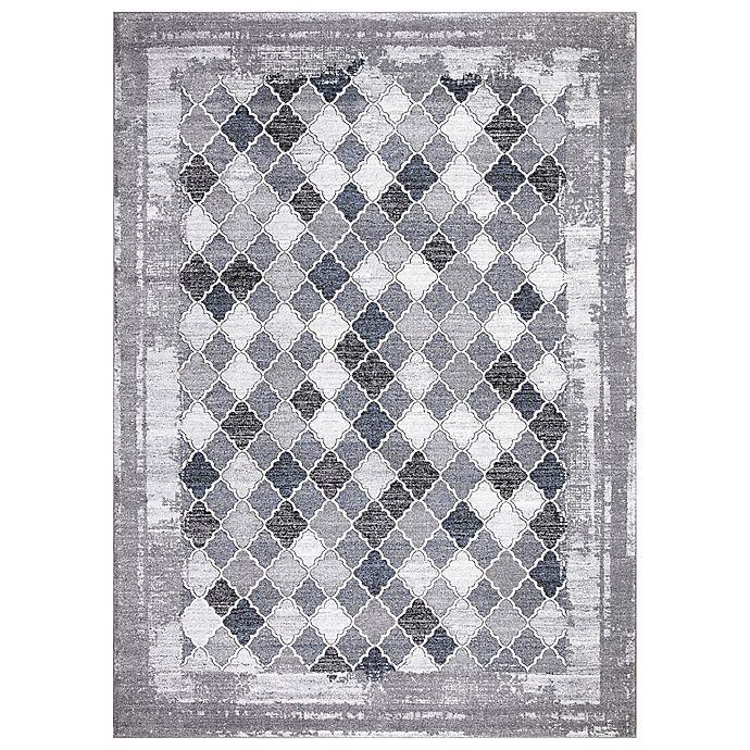Alternate image 1 for Concord Global Siena Trellis Rug in Grey