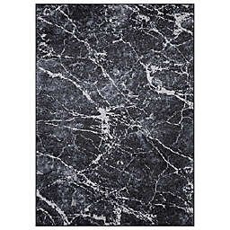 Concord Global Trading Napoli Abstract 3'3 x 4'7 Area Rug in Anthracite